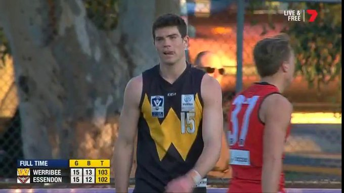 Have yourself a day, Sam Collins. - 25 disposals - 16 marks And most importantly, the W #PJVFL @WerribeeFC Photo