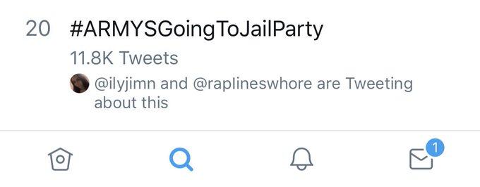 YALL REALLY DID IT HUH THIS IS WORLDWIDES ALDKSKD WE'RE GOING DOWN STREAKS #ARMYSGoingToJailParty Foto
