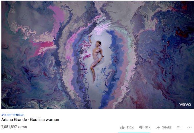 7 MILLION VIEWS #GodIsAWomanVideo Photo