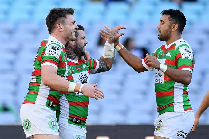 South Sydney again showed its an #NRL premiership contender by posting its ninth win in a row with 24-6 defeat of Canterbury: #NRLBulldogsSouths Photo