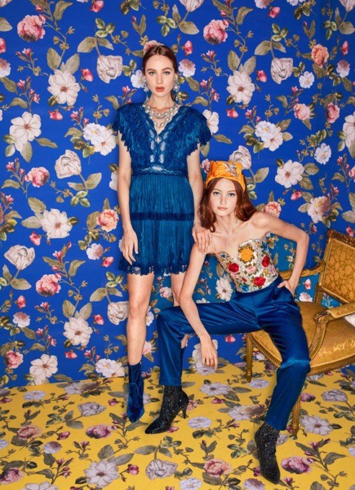 アリス アンド オリビア18年秋の新作、30年代に着想を得たフラワープリントのドレスなど -
