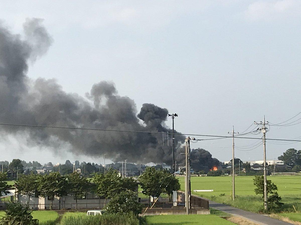 埼玉県南埼玉郡宮代町で火事の現場画像
