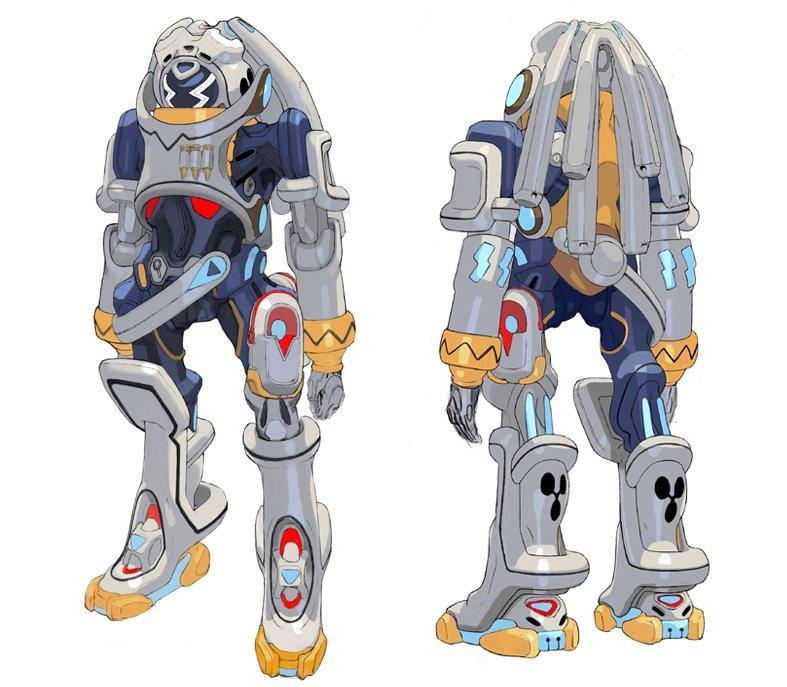 昔デザインしたキングゲイナーというロボットで〜す