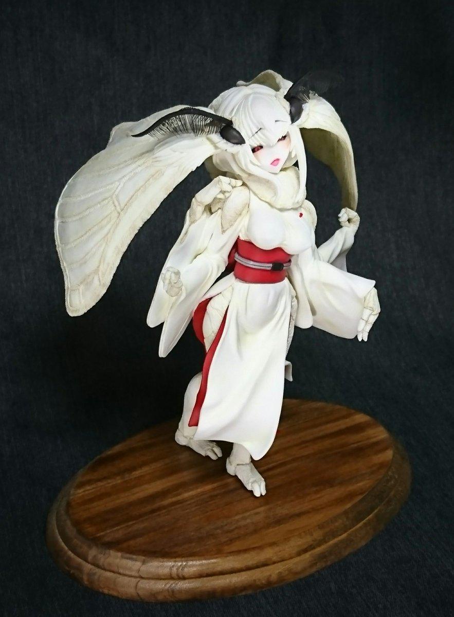 【WF新作】ソロピップB様の同人誌「白襲」シリーズから蚕娘の深白さんを立体化させていただきました。WF2018s 5-11-13「G-Rug」にて販売予定です。 #wf2018s #ワンフェス