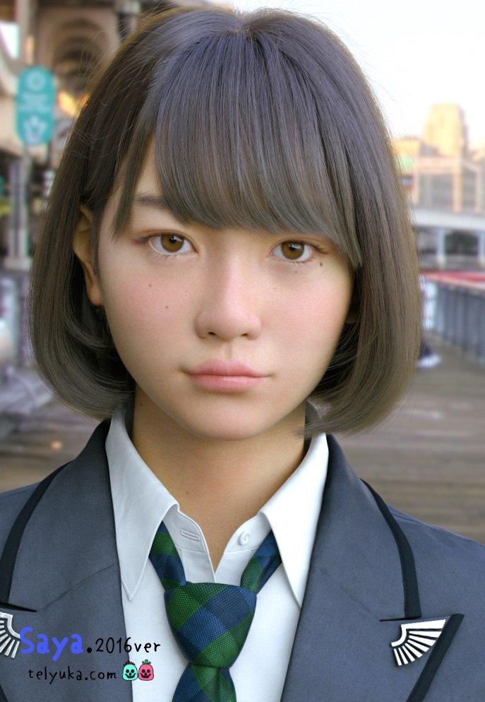 """混乱してきた……  「もはや何が現実かわからん」 """"実写にしか見えない3DCG美少女「Saya」""""にそっくりな美少女が話題に"""