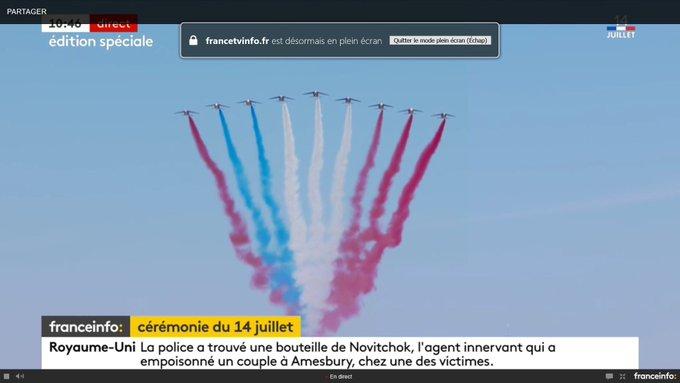 Kleiner Fail in Paris bei der Militä 🙈 Ein Jet hat die falsche Farbe getankt. 🇫🇷 Foto