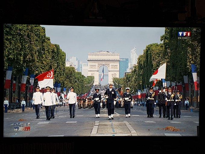 Le Japon et Singapour sur les champs pour le défilé du 14 juillet ! Photo