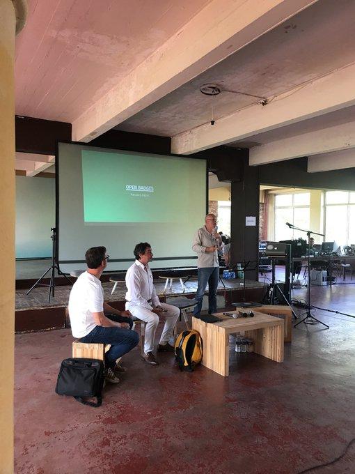 @DebarLeDome talk about the goal about #openbadge #Fab14edu Photo