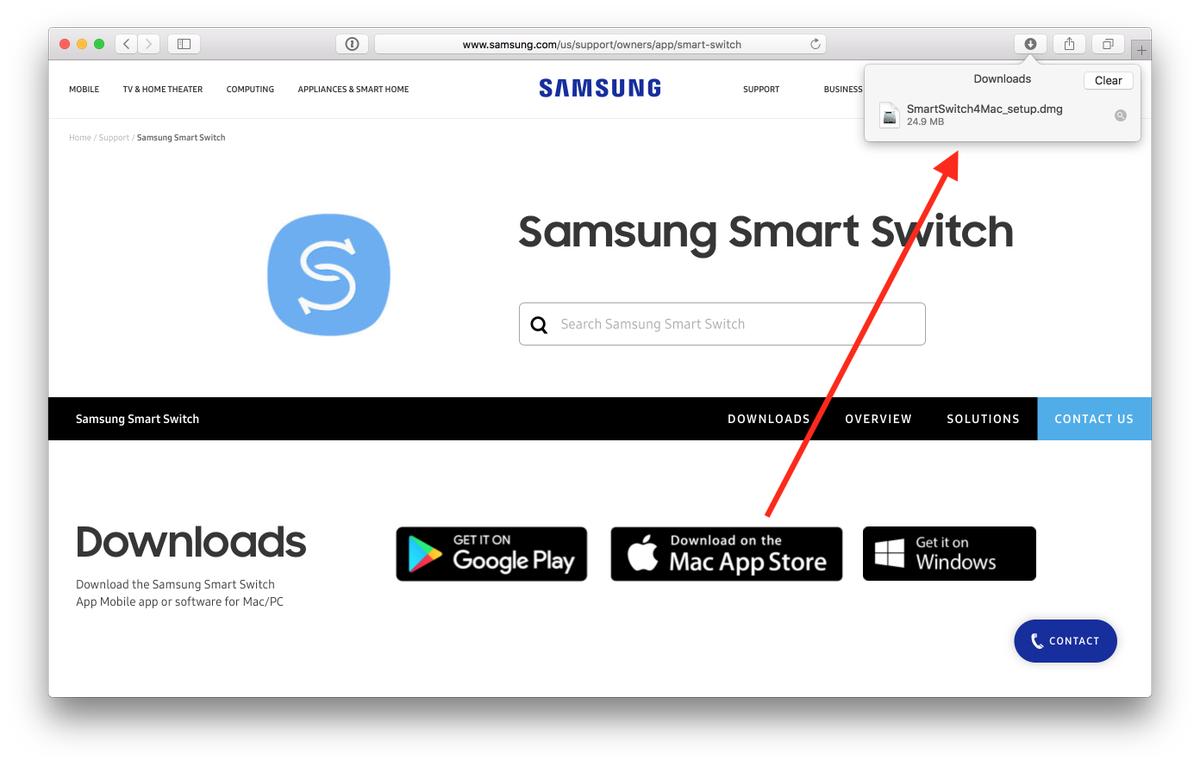 "Umm, @SamsungUS, I don't think you're supposed to be using the official @Apple ""Download on the Mac App Store"" button to link to a self-hosted DMG.  https://t.co/HWb9kxn6u8  #verynaughty"