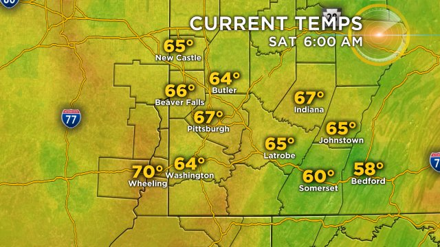 Here are your current temperatures. Full forecast on KDKA-TV and at KDKA.com/weather #kdkawx
