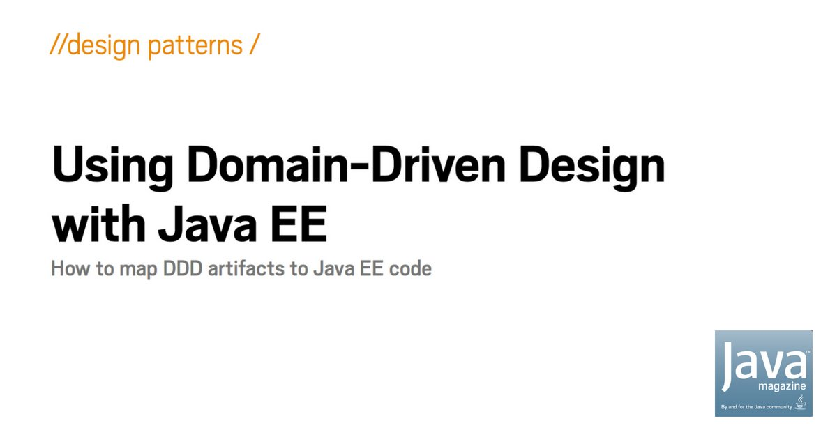 Java Magazine On Twitter Introduction To Domain Driven Design Ddd