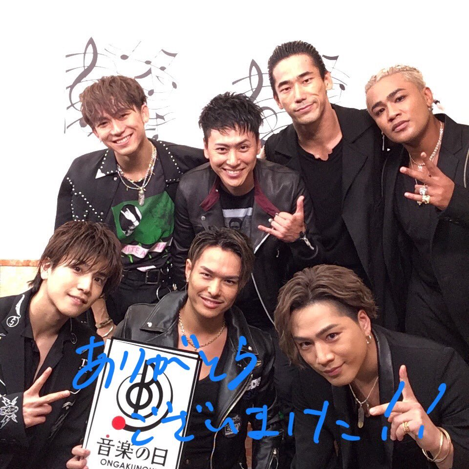 歌い終わりの三代目J Soul Brothers from EXILE TRIBE! 白熱のライブをありがとうございました! まだまだ続く #TBS #音楽の日 お楽しみに! #三代目JSB