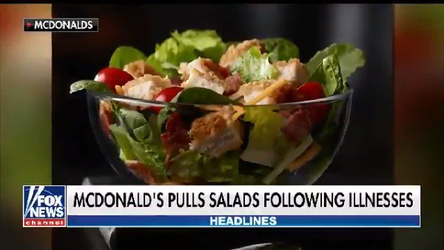Parasite-borne illness forces McDonald's to take salads off the menu at 3,000 locations https://t.co/LIG49D4oi1