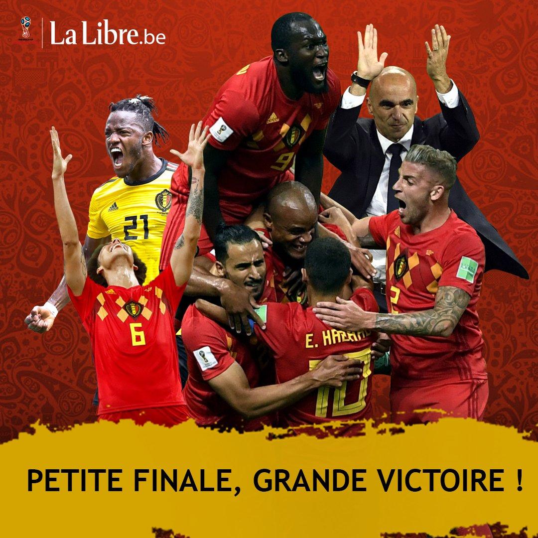 Pour la première fois, la Belgique est 3ème en Coupe du Monde !!! 🇧🇪️  Merci les Diables ! 🖤💛❤️ #REDTOGETHER #BELENG