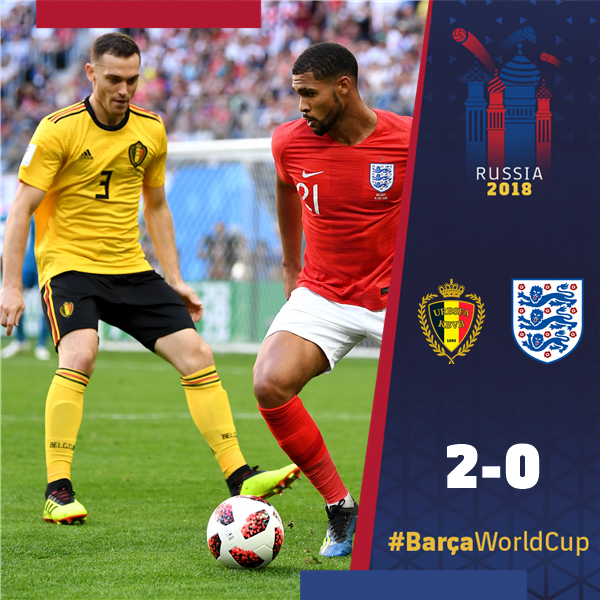 🙌 Congratulations to @thomasvermaelen and @BelRedDevils, who finish third in the #WorldCup! 🔵🔴 #BarçaWorldCup