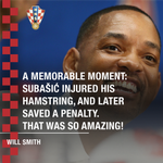 🌍 A powerful #RUSCRO #WorldCup memory for Will Smith. ⚽️#BeProud #CRO #WorldCupFinal #Vatreni🔥