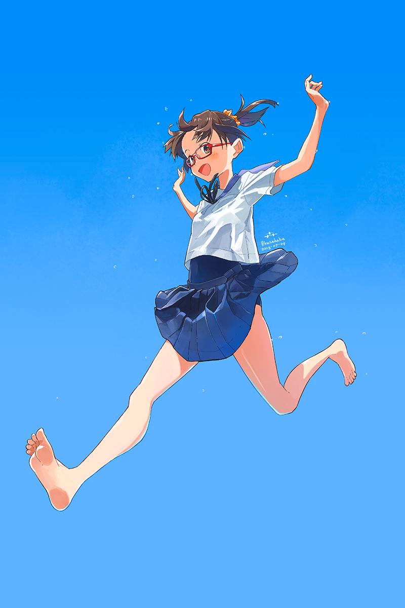 #暑い夏がやって来たので青色か水色の画像を流してtlをひんやりさせる 夏らしい風景画でも青基調の絵ってほとんど描いてなかったのでこんなのばかり集まる
