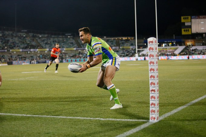 Match Report: A dominant 2nd half from our men in green! 📝 #WeAreRaiders #NRLRaidersCowboys Photo