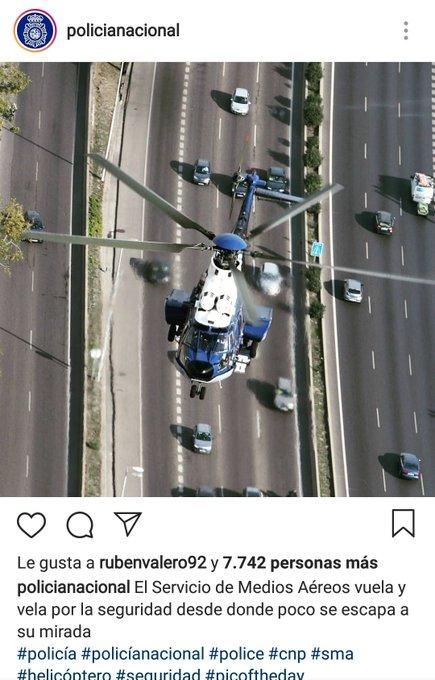 Vaya día llevamos con los CM de los perfiles El Instagram de @policia, bonito helicoptero, lástima que lleve años sin volar en el cuerpo Si no leíste su historia abajo la dejo 👇 Foto
