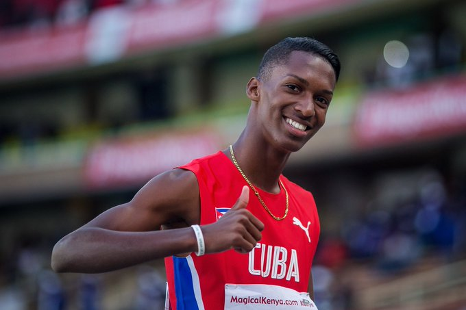 It's men's triple jump final time. Cuba's Jordan Diaz qualified in first place, could the world record be threatened today? 🇨🇺 #IAAFworlds Live results: Foto