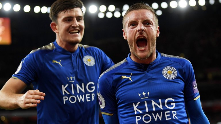 Leicester will offer a new £80,000-a-week contract for Harry Maguire and a new £120,000-a-week deal for Jamie Vardy when they return from Russia. (Source: Sun Sport)