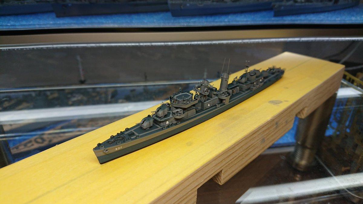 タミヤ1/700サリヴァンズ ミスり出したので止めw #艦船模型