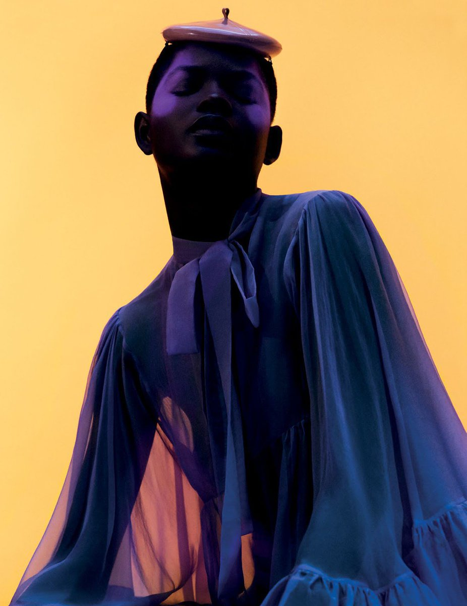 Mouna Fadiga (p: Dan Beleiu), Vogue Arabia, July / August 2018. <Rainbow> 2/2