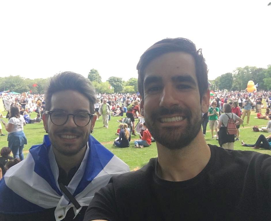 We&#39;re proud, we&#39;re queer, we&#39;re immigrants loved and embraced by our Scottish family  #TrumpProtest #ScotlandAgainstTrump #TrumpUKVisit <br>http://pic.twitter.com/5ZQM8aiQTh