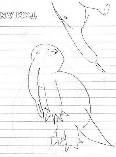 9歳娘が「アリクイって何?」というので、いろいろ特徴を言ったらそれをそのまま絵に描いたんだけど、『象を知らない江戸時代の人が噂から想像で描いてみた象』みたいな絵になった。