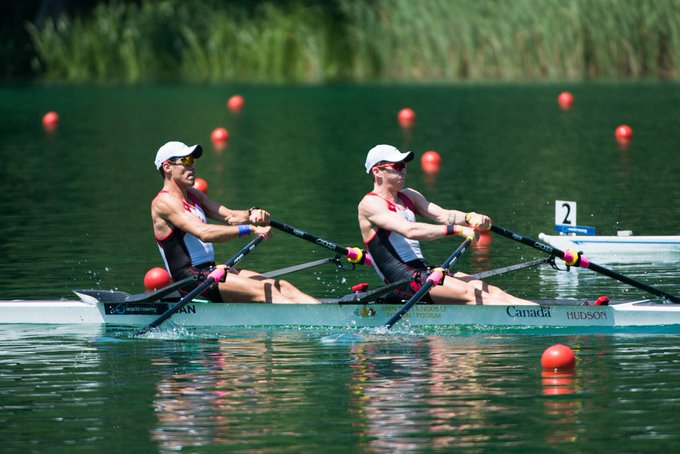 🚩🇨🇦LM2x Keane and Lattimer finish 3rd in semis! See you gents in the A final tomorrow! 👊🏼💯#WRCLucerne #truenorthstrong Photo