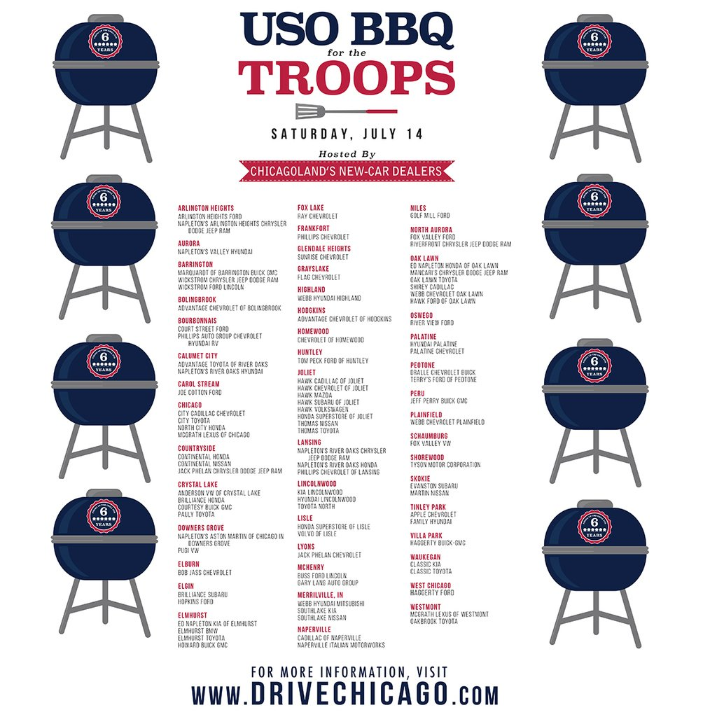 Wgntv On Twitter Join Drivechicago For Their Uso Bbq4troops