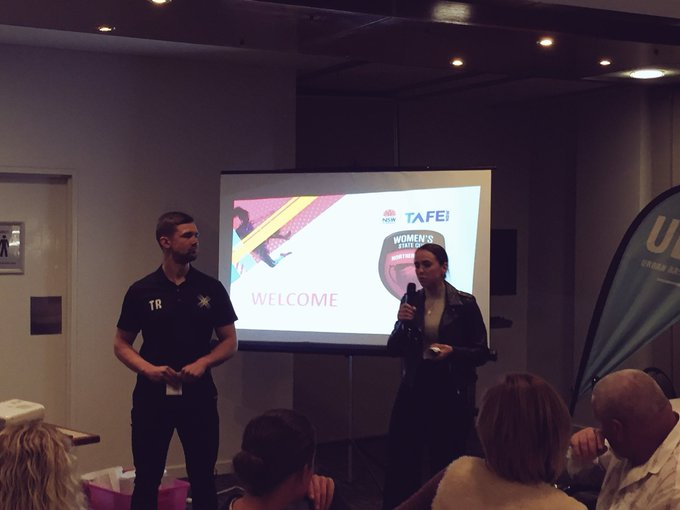 Learning about injury prevention with NextGen Physio & UBF 🙌🏼 @NNSWF @tafensw #TAFENSW #WomensStateCup Photo