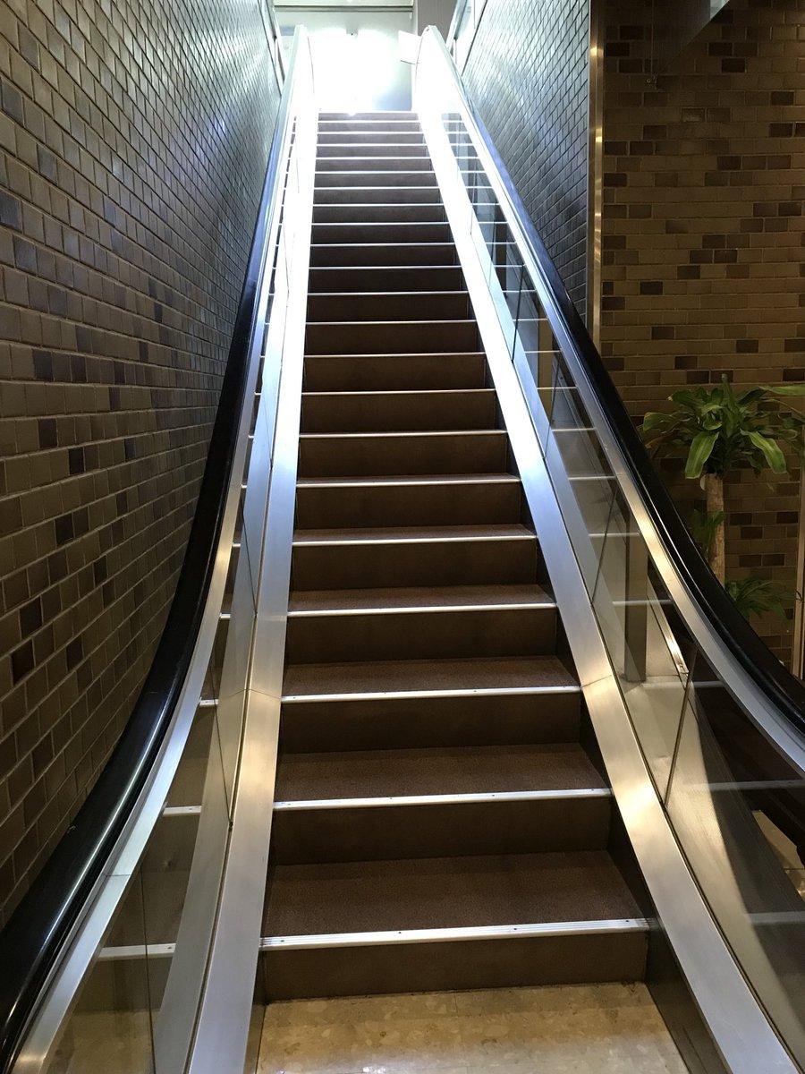 エスカレーターなりすまし階段(ツイッター社凍結対象)