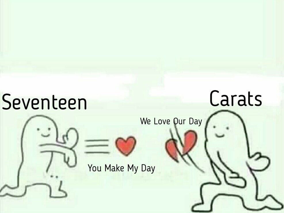 the actual representation of how carats friendzoned seventeen.... lol. <br>http://pic.twitter.com/l34zEygbG9