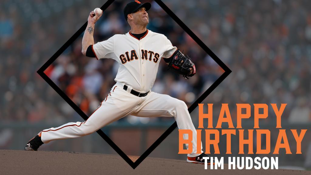 Happy Birthday to #ForeverGiant, Tim Hudson! �� #SFGiants https://t.co/S9WWarfOHm