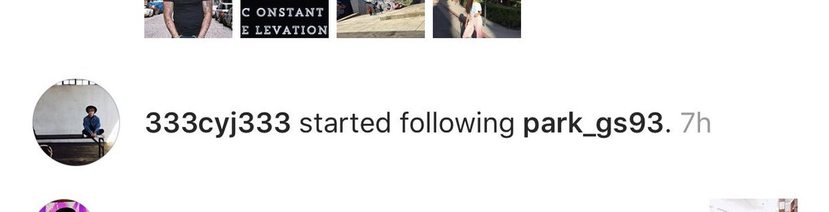 [IG] 20180714 Our Youngjae followed GOT7's dancer, park_gs93 & hashtag #youngjaexsupreme on IG    IGOT7, if u want to use the hashtag make sure your posts are only appropriate cuz we don't want YJ to see something he isn't supposed to see.    #Youngjae #영재 #GOT7 <br>http://pic.twitter.com/gak4j70vVi