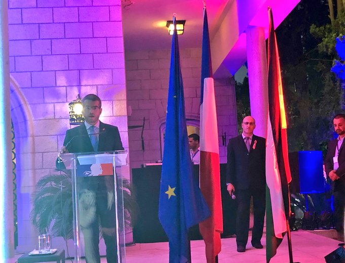 Merci beaucoup YE @bertodiplo for hosting us tonight & for the great speech and achievements that has been done in #Jordan through all the team efforts over the past years. Joyeux 14 juillet, La Fete Nationale. #France @Tcaboche Photo