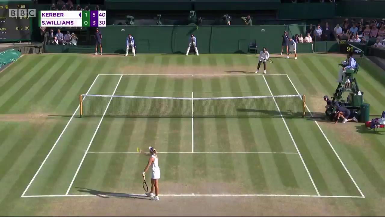 The winning moment for Angelique Kerber ��  #bbctennis #wimbledon https://t.co/1pho5iiFJc