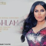 Image for the Tweet beginning: Next Saturday: @AhlamAlShamsi, the music