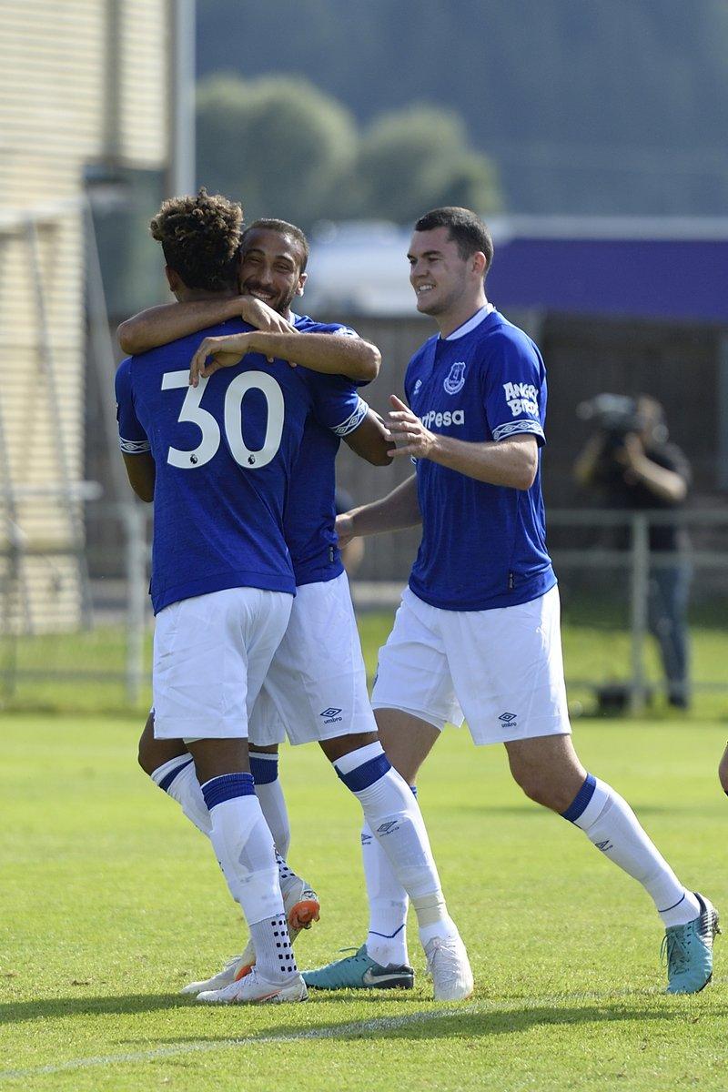 Cinco goles de Kevin Mirallas; cuatro goles de Ademola Lookman; cuatro goles de Oumar Niasse; tres goles de Cenk Tosun; dos goles de Vlasic; un gol de Leighton Baines, otro de Mason Holgate, otro de Michael Keane y uno más en contra. El Everton goleó ¡22 A 0! al ATV Irdning.
