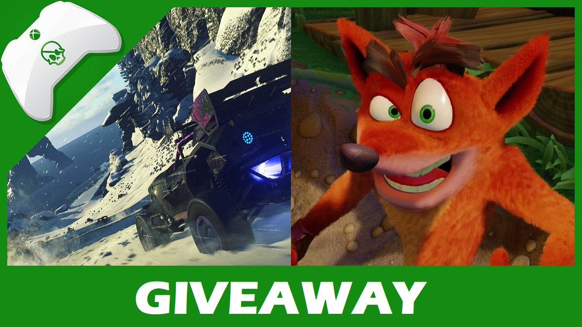 Giveaway! Follow and RT for a chance to WIN the Crash Bandicoot N. Sane Trilogy and ONRUSH. Winner chosen Saturday, July 21st, at 6:30pm BST.