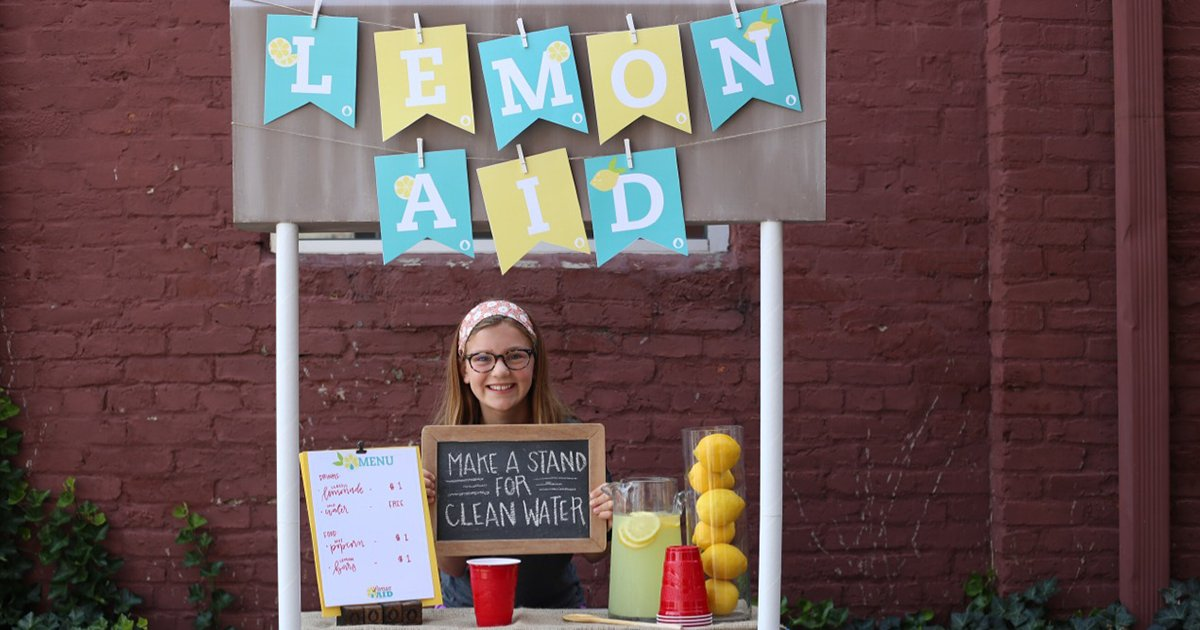 RT @bloodwater Our Lemon:Aid kits have everything your #worldchanger needs to have the best stand for clean water ever! Order yours and learn more about hosting a Lemon:Aid stand at https://t.co/C9yxiWjLPI.
