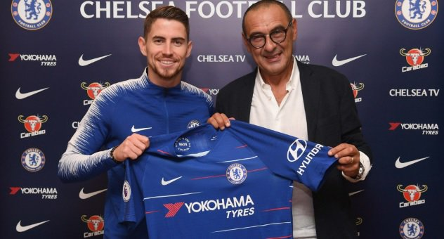 Maurizio Sarri assures Chelsea he is not homophobic or sexist as he and Jorginho move to Stamford Bridge #CFC Photo