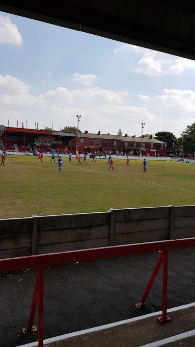 Ashton Utd 1 Macclesfield Town 5 Harry Smith with 2 Danny Whitaker Michael Rose and Nathan Blissett for the Silkmen with Nic Evangelinos scoring for Ashton. Att 227 Photo