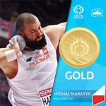 And here we have your Men's Shot Put medallists. #AthWorldCup