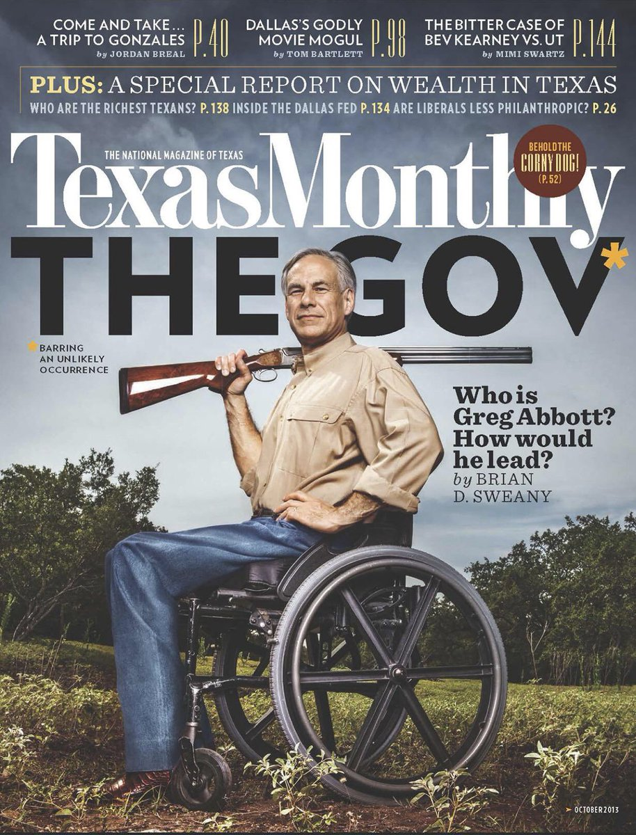 On this day 34 years ago my back was broken & I was paralyzed forever. My life seemed crushed. Little did I know that I would one day be Governor of the greatest state in America. It just shows that anything is possible in Texas. Never let your challenges stop you.