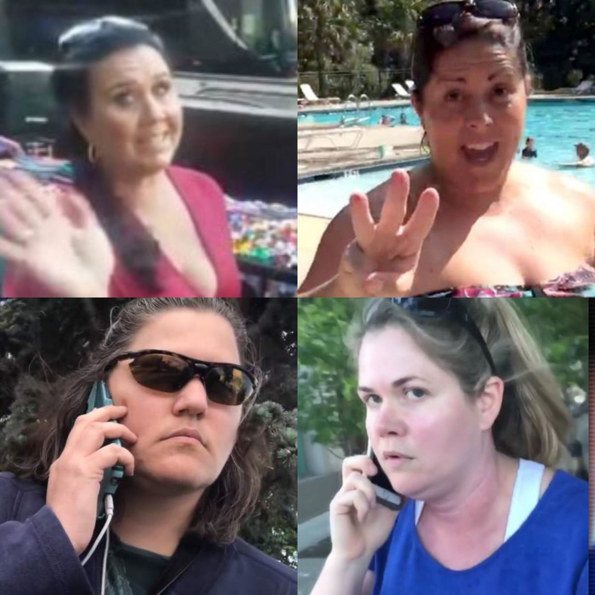 Why do all of these vile, racist women look like they are kin of @PressSec Slanders?<br>http://pic.twitter.com/A3wlnOwmX7