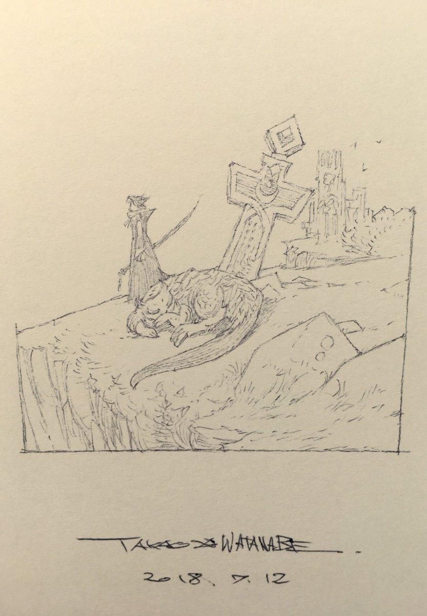 おはようございます!今日は1日家にいるのでゆっくり描いて描ける!はず💪  「お気に入りの海を見に」なイラスト!