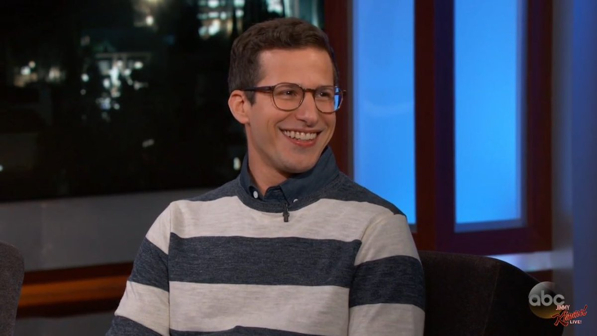 andy samberg looking exactly the same on talk shows
