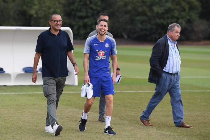Maurizio Sarri checks out Chelsea training ground after 'ensuring Blues he is not racist or homophobic' Photo